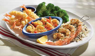 Choose from a variety of new flavor options featuring some of the largest shrimp ever offered on the menu, like NEW! Crispy Tempura Shrimp, NEW! Brown Butter Shrimp Scampi and NEW! Extra Jumbo Garlic-Grilled Shrimp.