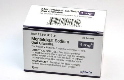 Ajanta Pharma USA Inc Announces the Launch of Montelukast Sodium Oral Granules