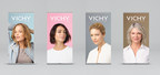 Vichy USA's #ForgetFlawless visual campaign picturing four un-retouched models at different life stages.