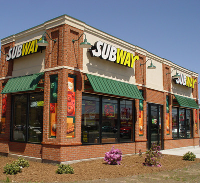 "The SUBWAY(r) restaurant chain, with more than 39,000 locations in 101 countries, has been named ""Brand of the Year"" in the ""Quick Service Restaurant"" category according to the latest Harris Poll EquiTrend(r) consumer study. This marks the 9th year in a row that the submarine sandwich franchise has received the highest ranking among quick service restaurant brands in the annual study which measures consumer perceptions of more than 1,500 brands in 155 categories.  (PRNewsFoto/SUBWAY Restaurants)"