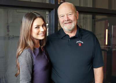 Mila Kunis and Fred Noe.  (PRNewsFoto/Beam Inc.)