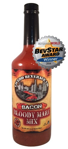 Award Winning Bacon Bloody Mary Mix (PRNewsFoto/Cicero Beverage Co.)
