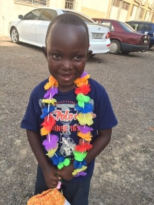 Four-year-old Kodjo, from the town of Akwatia in Ghana's Eastern Region and Smile Train cleft patient, shows off his new smile.