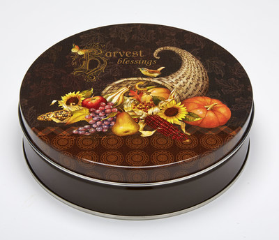 Ball's Harvest Blessing specialty tin won a silver award from the Specialty Graphic Imaging Association.