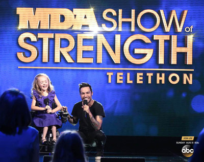 Fall Out Boy bassist Pete Wentz will open the 49th MDA Show of Strength Telethon alongside MDA's 2014 National Goodwill Ambassador Reagan Imhoff, 9, this Labor Day weekend, Sunday, Aug. 31, 9/8c, on ABC television stations across the country. The annual telethon raises funds and awareness to support the Muscular Dystrophy Association's mission to save and improve the lives of children and adults fighting muscle disease. (PRNewsFoto/Muscular Dystrophy Association)
