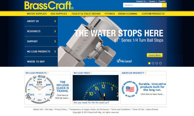 BrassCraft Website.  (PRNewsFoto/BrassCraft Manufacturing Company)
