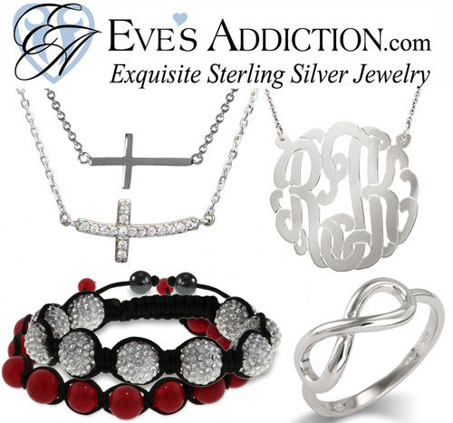 Sterling Silver Jewelry from EvesAddiction.com.  (PRNewsFoto/EvesAddiction.com)