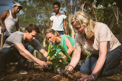 With Carnival Corporation's new fathom brand, travelers will work alongside people in global communities in need. Planting cacao plants allows the cooperatives to increase their production, to help locals achieve economic independence.