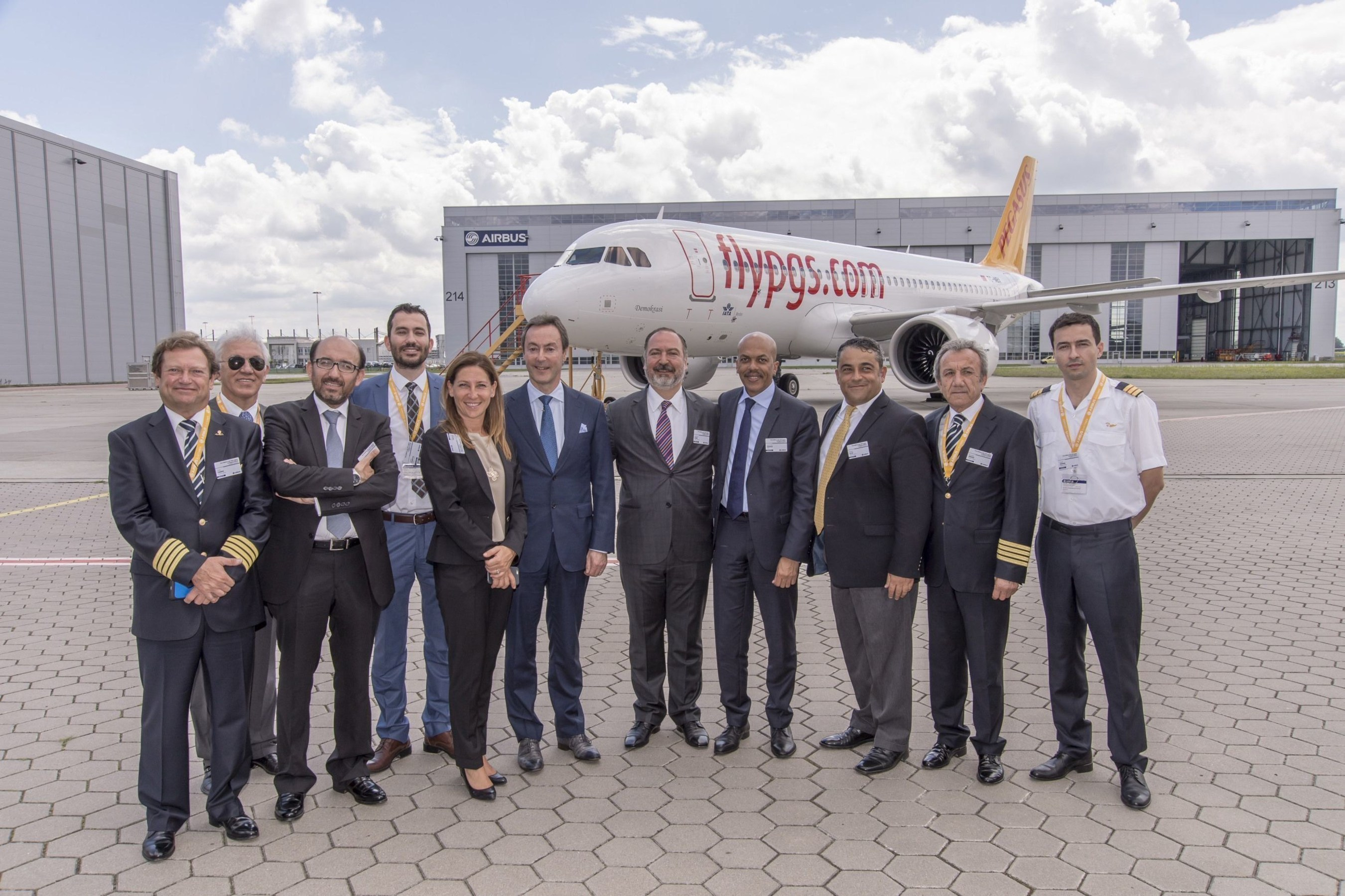 Pegasus Airlines  Airbus CFM top management and employees celebrated the delivery (PRNewsFoto/Pegasus Airlines)