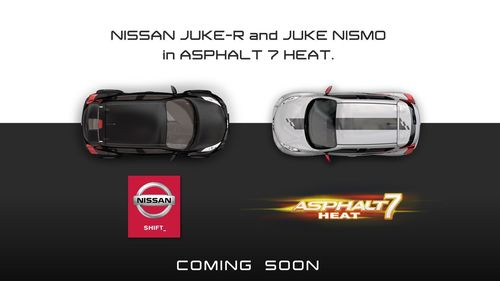 Nissan Juke-R and Juke NISMO in Asphalt 7 Heat – logo of the partnership
