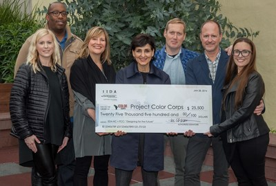 IIDA NC Leadership presenting check to the 2015 Philanthropy recipient, Project Color Corps.  (left to right) Kelly Dubisar VP of Philanthropy IIDA NC, Carlton Eicrhelberger  the Area Director for the Willie Mays Clubhouse, Fae Urban IIDA NC President, Laura Guido Clark Founder of Project Color Corps, David Mauroff VP of Operations for Boys and Girls Club San Francisco, Donald Cremers IIDA NC President Elect, Natalie Engles IIDA NC Past President.