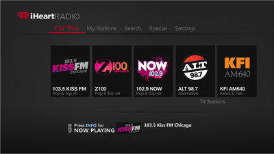 iHeartRadio is now available on AT&T U-verse TV.