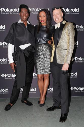 Robert Verdi, Aisha Tyler and J Alexander at the Polaroid Eyewear Party.  (PRNewsFoto/Polaroid Eyewear)