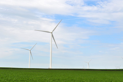 Goldwind 1.5MW turbines at Shady Oaks project in Illinois.  (PRNewsFoto/Goldwind)