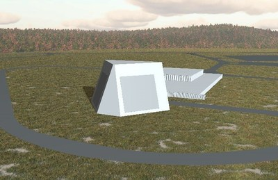 Artist's Concept of the Lockheed-Martin Radar in Alaska