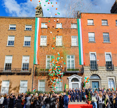 A festive ribbon-cutting and open house event marked the launch of the new Church of Scientology National Affairs Office for Ireland.