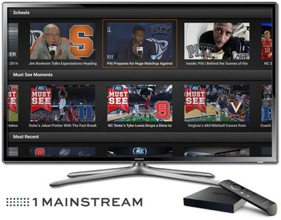 1 Mainstream and Silver Chalice Partner to Bring ACC Digital Network to Amazon's Fire TV.  (PRNewsFoto/1 Mainstream)