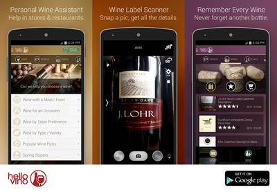 Hello Vino - Wine Assistant App on Google Play (Android) (PRNewsFoto/Hello Vino)