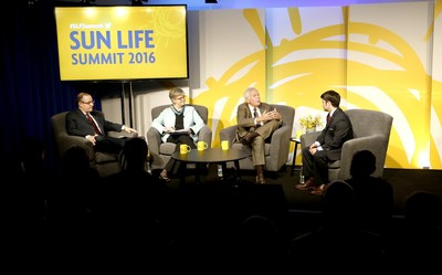 Attorney Stacy Barrow, Dr. Jennifer Christian, and Dr. Chris Brigham with Sun Life moderator James Slotnick