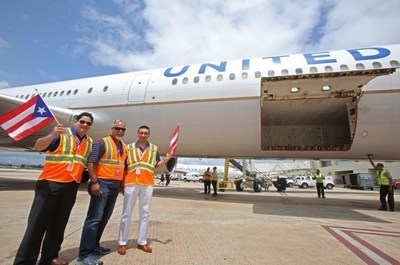 United Airlines employees celebrate 25 years of service to Puerto Rico