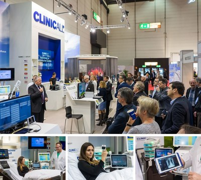 First ever live presentation at MEDICA: ClinicAll is one of the first to present real-time access to the digital patient health record at the bedside (PRNewsFoto/ClinicAll)