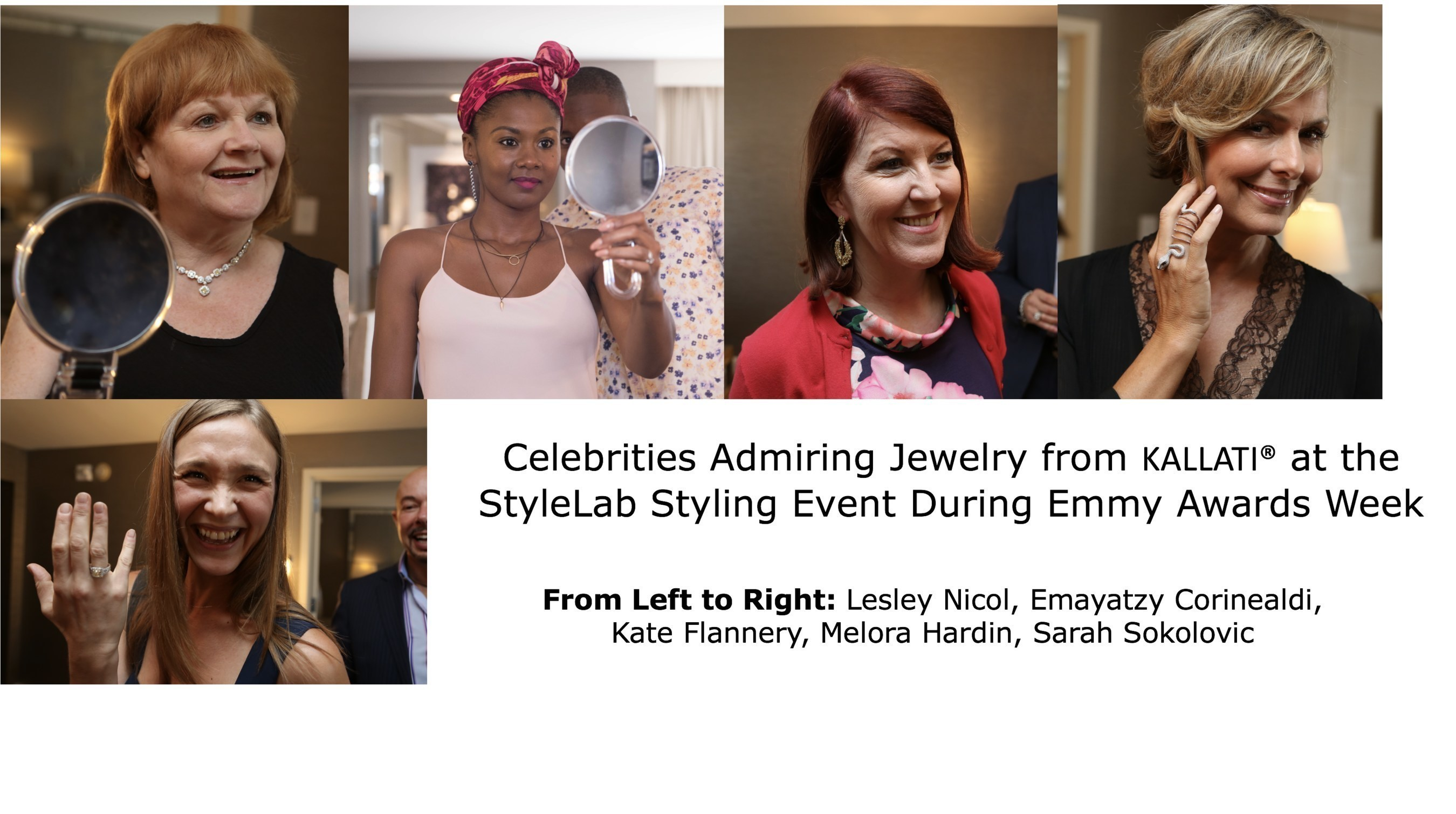 Celebrities Previewed Jewelry From KALLATI' at StyleLab's Styling Event During Emmy Awards Week