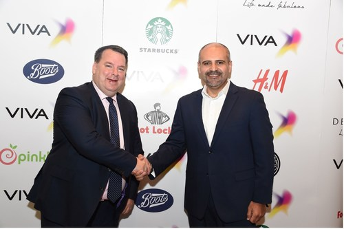 James Kennedy AlShaya Group - Country Manager and Andrew Hanna VIVA Bahrain - CCO (PRNewsFoto/VIVA) ...