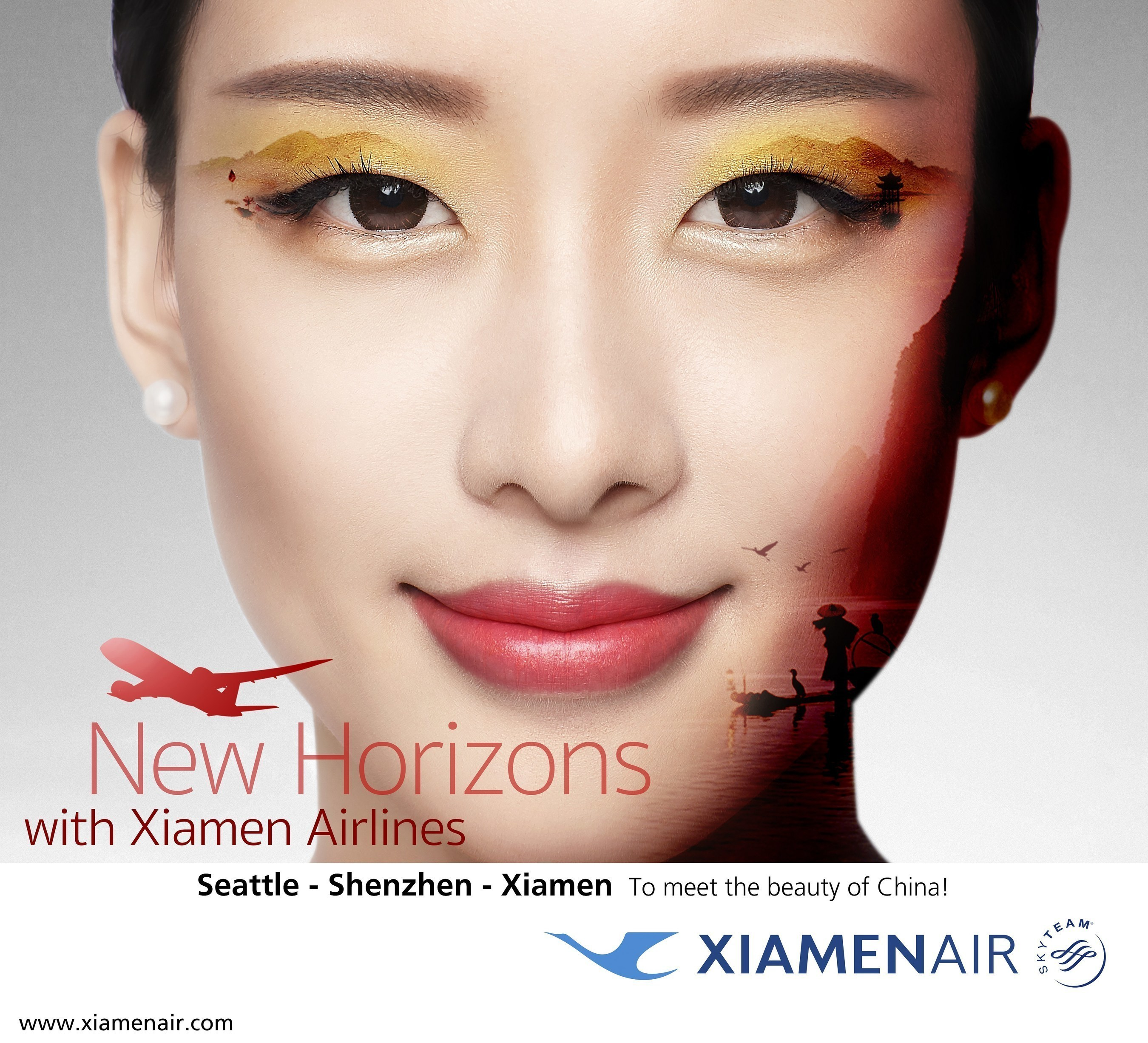 Xiamen Airlines launches its first flight service to the U.S.: Xiamen-Shenzhen-Seattle