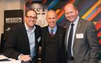 Josh Shaw, Doug Casa and Josh Newton, President and CEO of UCONN Foundation - Photo credit: MISSION Athletecare
