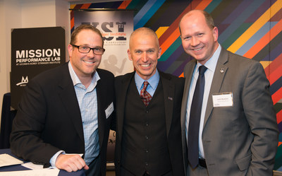 Josh Shaw, Doug Casa and Josh Newton, President and CEO of UCONN Foundation - Photo credit: MISSION Athletecare