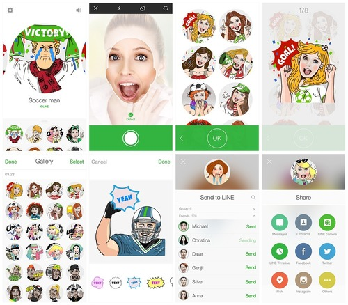 LINE Selfie Sticker (PRNewsFoto/LINE Corporation)