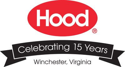 HP Hood Winchester Plant 15th Anniversary Logo