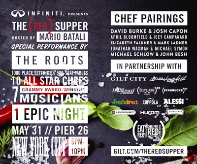 Infiniti presents The (RED) Supper hosted by Mario Batali with The Roots
