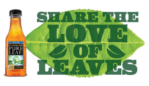 """Pure Leaf fans can """"Share the Love of Leaves"""" to help donate $150,000 to Wholesome Wave  (PRNewsFoto/Pure Leaf Iced Tea)"""