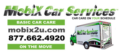 Mobix comes directly to your home or office - on your schedule - when it is convenient for you. The mobile car care company saves its customers time and money - no need to drive to the service center, car wash or tire store anymore. Mobix Car Services Franchise Inc. is actively seeking additional entrepreneurial-minded men and women. Mobix will wave the franchise fee for all honorably discharged military service members interested in launching the franchise in their local area.  (PRNewsFoto/RPR Public Relations, Inc.)