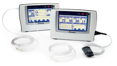 The Mount Sinai Hospital in New York City selected Nonin Medical's RespSense and LifeSense capnographs to monitor patients' breathing throughout the hospital in the cardiac catheterization laboratory, the emergency room and the respiratory therapy department. Several professional medical societies, including the American Society of Anesthesiologists and the American Heart Association, recommend the use of capnography to monitor patients who receive moderate to deep sedation during medical procedures and during cardiopulmonary resuscitation (CPR). (PRNewsFoto/Nonin Medical, Inc.) (PRNewsFoto/NONIN MEDICAL, INC.)