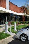 Electric fleet vehicles charge at commercial Plugless Power wireless charging stations.  (PRNewsFoto/Evatran)