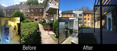 The Square at Squirrel Hill before and after Nexus Real Estate renovations.