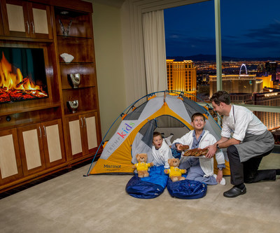 "Kids enjoying the ""Glamping"" hotel package at Trump International Hotel Las Vegas (PRNewsFoto/Trump International Hotel LV)"