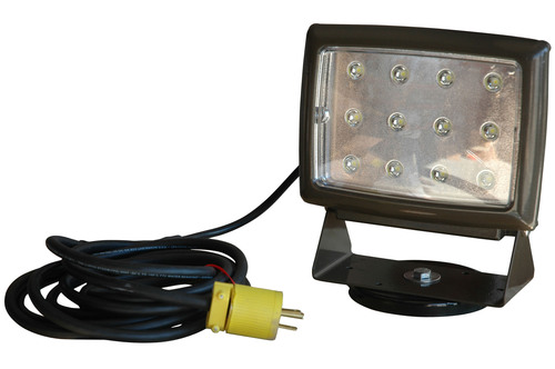 The BLWP-40LED LED Blasting Light offers high light output from a compact form factor and is designed to provide a more durable and long lived alternative to halogen units. This LED light includes a 200lb grip magnetic base which allows the unit to be mounted to metallic surfaces such as walls or work tables. This 40 watt LED light produces illumination comparable to a 400 watt metal halide unit without the high heat, fragile construction, or high energy costs of incandescent lighting. (PRNewsFoto/Larson Electronics) (PRNewsFoto/LARSON ELECTRONICS)