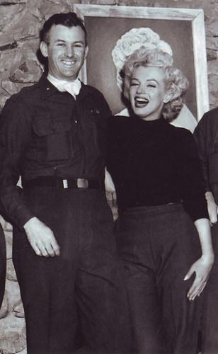 Marilyn Monroe in Korea 1954, courtesy Chris Orestis of Life Care Funding (PRNewsFoto/Life Care Funding) ...