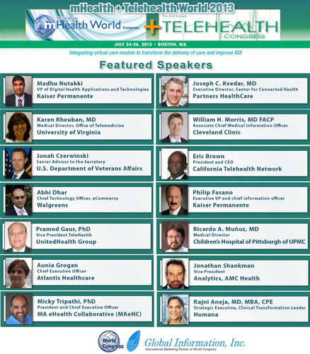 Taking mHealth and Telehealth Models from Innovation to Value This July in Boston.  (PRNewsFoto/Global Information, Inc.)