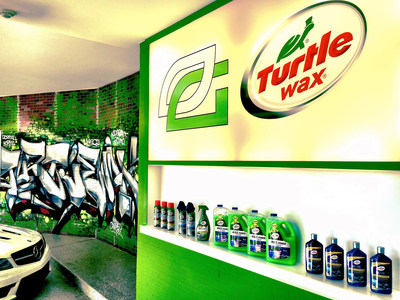 Turtle Wax custom graffiti and product light box in the OpTic Gaming Scuf House garage in a northwest Chicago suburb. The garage overhaul is the first part of a new partnership between the most innovative car care brand and premier eSports team, announced April 18, 2016. The partnership will focus on a content-driven narrative that weaves Turtle Wax naturally into OpTic Gaming's busy lifestyle in their home, on the stage and on the road.
