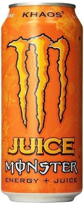 Ball Corporation manufactured the two-piece, 16-ounce can for Monster Khaos Energy + Juice