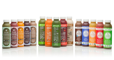 Suja Juice family of products, including Suja Classic, Suja Elements and Suja Essentials. (PRNewsFoto/Suja Juice Co.)