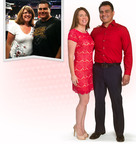 """Nutrisystem winning couple Lori & Oscar Balderrama of Los Angeles, California, lost a combined total of 77 pounds on the all-new Nutrisystem My Way and appeared today on the syndicated daytime series """"The Doctors."""" The Balderammas first appeared last October on """"The Doctors,"""" where during the segment they were introduced to Nutrisystem celebrity coaches, Dan Marino and Marie Osmond, along with Nutrisystem counselors, to further support and encourage their weight loss efforts. The Hall of Fame football quarterback and world-renowned singer/actress surprised the couples on-set and returned to celebrate their win.  (PRNewsFoto/Nutrisystem, Inc.)"""