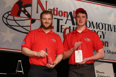 Two seniors from Norwich Technical High School, Norwich, Connecticut, Devin Bialek and Johnathan O'Neill finished in 1st place at the 2016 National Automotive Technology Competition. The students, who can now call themselves 'America's Top Technicians' were sponsored by the Connecticut Automotive Retailers Association and beat out 29 other teams from across the country to win the national competition.