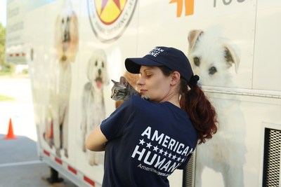 American Humane's legendary animal rescue team has set up a major emergency aid and reunification center for pets caught in the devastation of Hurricane Matthew.