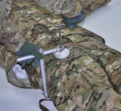 CRoC is a device used to control difficult hemorrhaging in the inguinal region, an area where standard tourniquets cannot be applied. The CRoC has 510k clearance by the U.S. Food and Drug Administration and has been recommended by the Committee on Tactical Combat Casualty Care (CoTCCC). PHOTO COURTESY COMBAT MEDICAL SYSTEMS.  (PRNewsFoto/Combat Medical Systems)