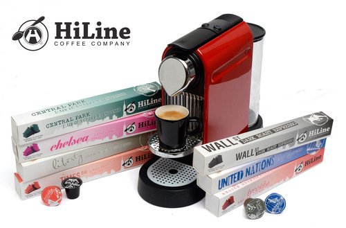 HiLine Coffee Company offers premium alternative to Nespresso capsules at 20% less than brand prices.  (PRNewsFoto/HiLine Coffee Company)